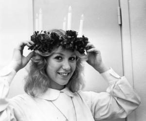 1981 var det riktigt kallt på Luciadagen, under minus 20 grader. 19-åriga Anita Berglund blev Länets Lucia.