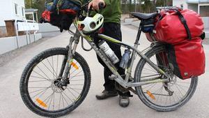 Carlos har döpt sin cykel till