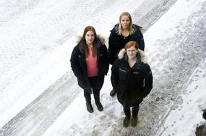 Annica Larsson, Anette Nordström och Jessica Persson är kommunens tre fältarbetare.