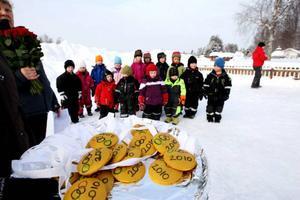 Guldmedaljerna väntar på att bli utdelade till deltagarna. Foto: Håkan Degselius