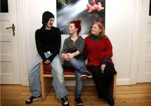 Det var nästan bara kvinnor på årets första kurs för nyföretagare. Maja Eklund, Ida Lundgren och Lisa Carlén har egna affärsidéer som de vill pröva.