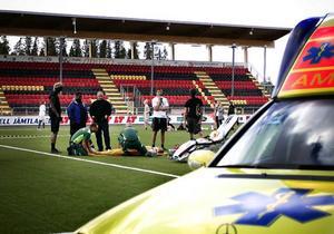 En rugbymatch mellan gymnasieföreningarna Baneret och Lyran slutade med att en elev skadades.