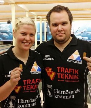 Ida Nordlöf och Mattias Jonsson, BK Flash tog hem mixed-DM.