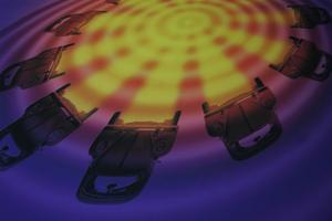 Den här bilden har Johan Adlercreutz gjort med hjälp av datorn. Ett arbetssätt som han tycker är miljövänligt och bra