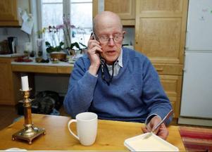 Telefonen gick varm hemma hos Olle Persson igår. De flesta samtalen kom från människor som ville uppmuntra honom.