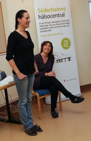Deborah From och Eva Backfält jobbar med mindfulness på Söderhamns Hälsocentral.