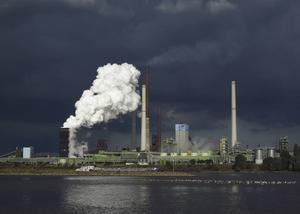 ThyssenKrupp Kokerei Schwelgern stålbruk i Duisburg, Tyskland.