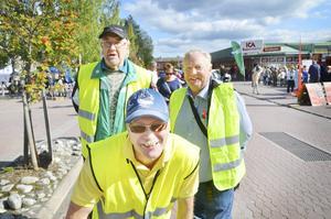 Ensio Gustafsson, Peter Grundström och Göte Norlander är drivande i Krokoms byförening som ligger bakom Krokomsdagen.