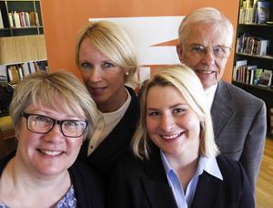 Marianne Larm-Svensson (M), Saila Quicklund (M), Malin Rimmö (FP) och Emanuel Sandberg (KD) presenterade regeringens vårbudget på Torsta.