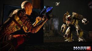 Bioware har byggt ut vapenstriderna inför Mass Effect 2. Resultatet är lyckat och påminner om toppspel som                Gears of War.