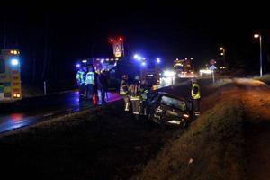 En trafikolycka inträffade norr om Mellstabron i december 2014.