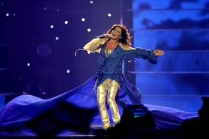 Carola under finalen i Eurovision Song Contest 2006.   Foto: SARA JOHANNESSON/ TT