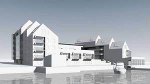 En av de nya bilder som visar hur Persson Invest jobbar med idéer som ska vidareutvecklas till ett kvarter i området.