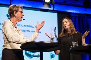 Gudrun Schyman och Birgitta Ohlsson i debatt.
