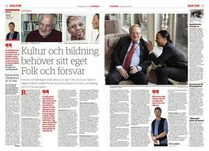 DD:s Ulf Lundén publicerade sin krönika om kultur och bildning den 12 januari. Den fick stor spridning och nådde även arrangörerna av Folk och Kultur.
