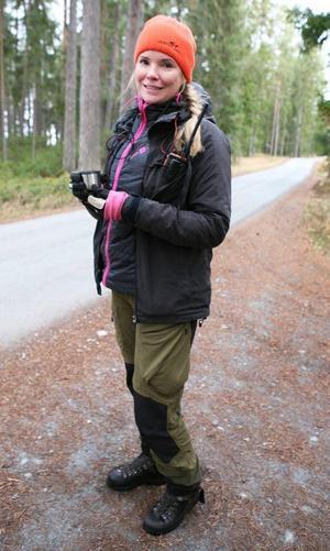 Lina Holmgren från Östersund var i fredags med om sin första rådjursjakt.