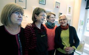 Gun Arver, Kristina Wrang, Agneta Sahlin och Ingrid Aronsson är medlemmar i Handlaget.