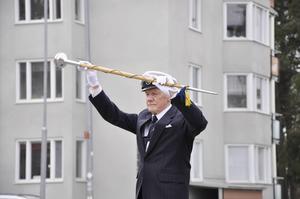 Tamburmajor Göran Wikenius.