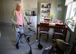 Ingrid  Wiklund, flyttade nyligen från sitt hem till Ekbacken.
