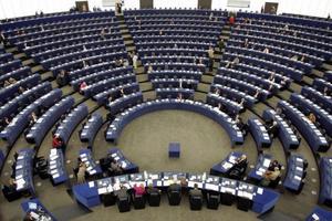 EU-parlamentets kammare i Strasbourg.