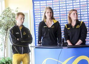 Söderhamns IF:s Martin Jansson, Viktoria Karlsson och Emma Ericsson. Även klubbkompisen Johanna Mårtensson kommer till start när Parasport-SM avgörs i Söderhamn.
