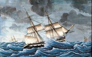 FÖRLORAT FARTYG. Briggen Neptunus av Gävle förliste i december 1838 utanför Gråberget på Norrlandet. Besättningen kunde räddas, liksom lasten som till stor del bestod av spannmål. Fartyget byggdes 1815 på Vifsta varv i närheten av Sundsvall och hade nio mans besättning.