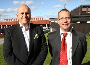 Scandinavian Biogas Sverigechef Erik Woode och forsknings- och utvecklingschef Jörgen Ejlertsson, fanns igår på plats för att sondera terrängen kring en möjlig framtida fordonsgasanläggning i Östersund.Foto: Per Hansson