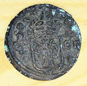 Sverige 1 öre Kristina 1638 Säter.