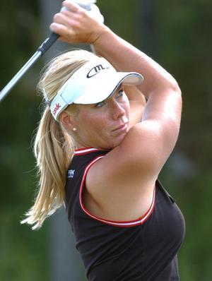 Marlene Hedblom på golfbanan. Nu är hon...Foto: Jan Collsjö/Scanpix