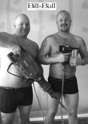 November: Uffe och Robban från Bill och Bull byggservice.