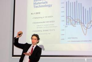SMT-chefen Jonas Gustavsson kunde presentera en splittrad rapport för sitt affärsområde.