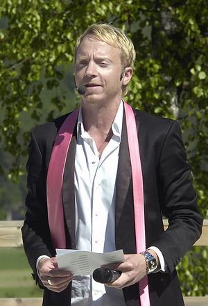 Konferencieren Håkan Berg roade publiken med en del trolleritrix bland annat.
