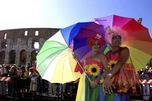 Arkivbild från World Gay Pride-firandet i Rom år 2000.
