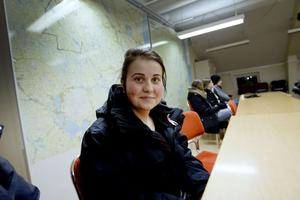 """""""Det här känns som en spännande utmaning"""", säger Erika Fredriksson, 19, som kom till träffen"""