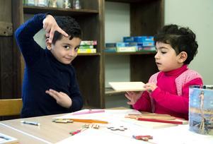 Ahmed och Rahaf Mustafa är syskon och de verkade trivas.