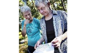 Anita Montelius och Britta Olsson diskuterar sina vägval. FOTO: ANNIKA BJÖRNDOTTER