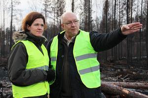 Ulf Berg är med och siktar mot framtiden tillsammans med sin partiledare Anna Kinberg Batra.
