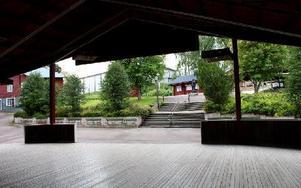 Tomt och öde har det mestadels varit denna sommar i Söderbärkeparken. Foto: Beatrice Åström