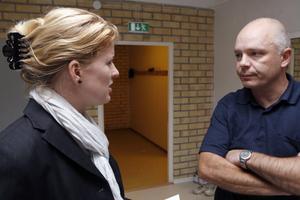 Samverkan är nyckelordet för att åstadkomma en dansstudio som denna, tycker danskonsulent Sofia Nohrestedt och rektor Lasse Norin.