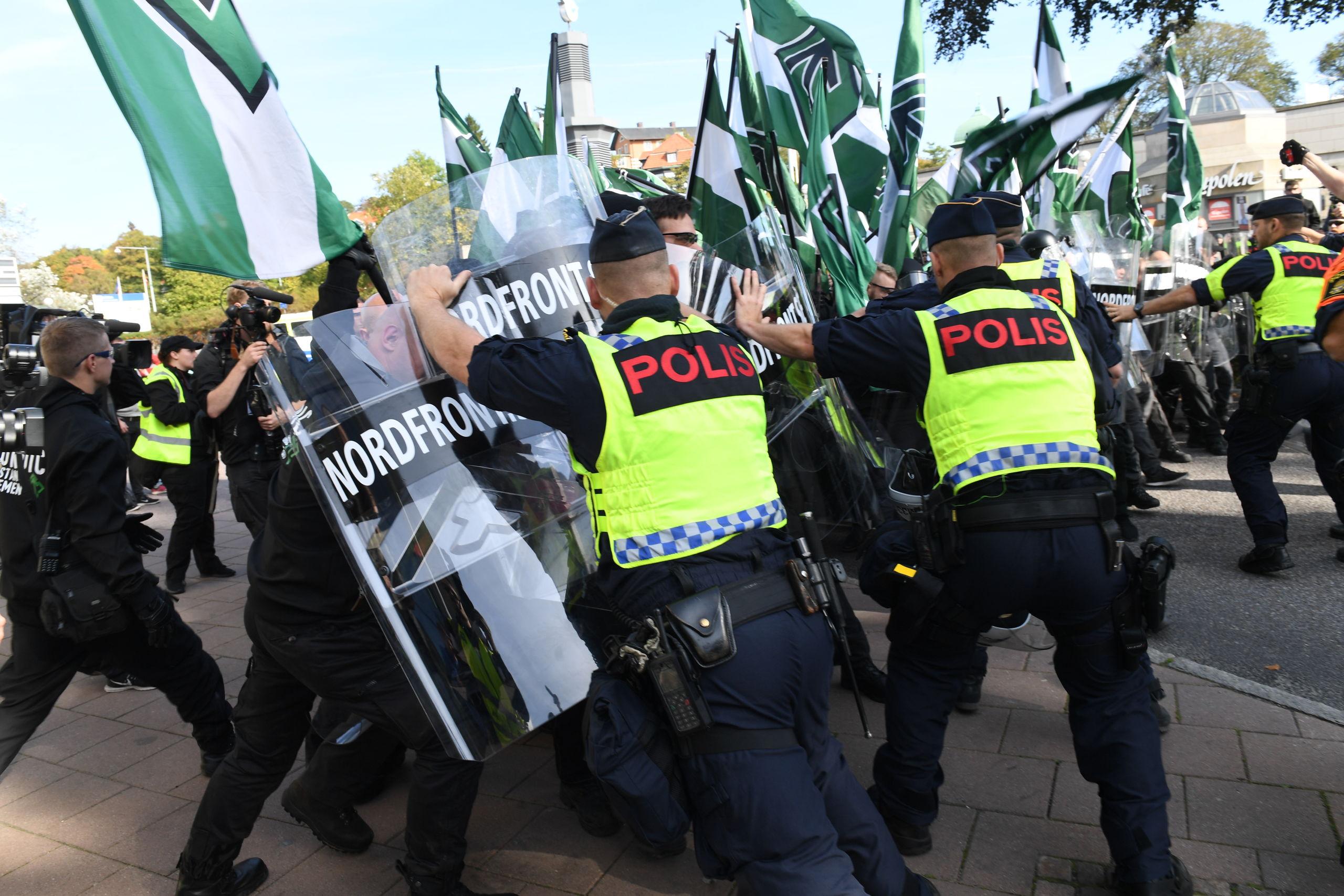 Tumult infor matchen i goteborg