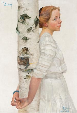 Älskad dotter. Lisbeth Larsson fick frysa på Bullerholmen när pappa Carl målade av henne där.