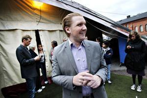 Kommunikationsstrategen Marcus Hellsten, till vardags på Folkteatern