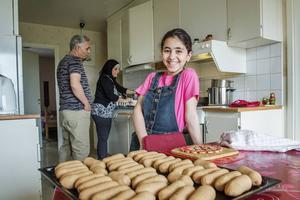 Rihab Al-hanon ska fritera kubba.