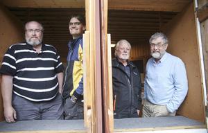 Stark skyttefront i Bollnäs PSK, från vänster: Clas Olsson, David Lindström, Lars-Olof Hed och Jan Kjellberg.