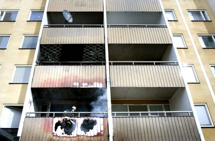 Kraftig brand i norrtulls sjukhus