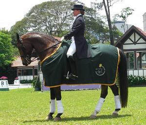 mästare. Pia på sin svenska häst Aslan när hon i år blev brasiliansk mästare i dressyr.