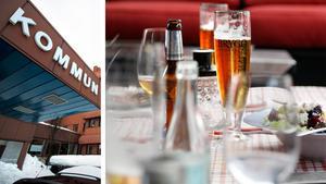 Det kommunala bolaget representerade med öl, vin och sprit.