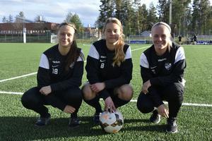 Erika Persson, Malin Persson och Vilma Josefsson.