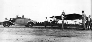 Så här kunde det se ut när man skulle segelflyga i början av 1950-talet.