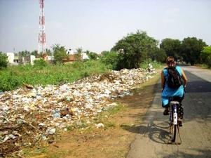 Under det omkring tre veckor långa äventyret i Indien är cykeln det självklara färdsättet.  Foto: Privat